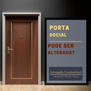 alteração porta hall social condominio