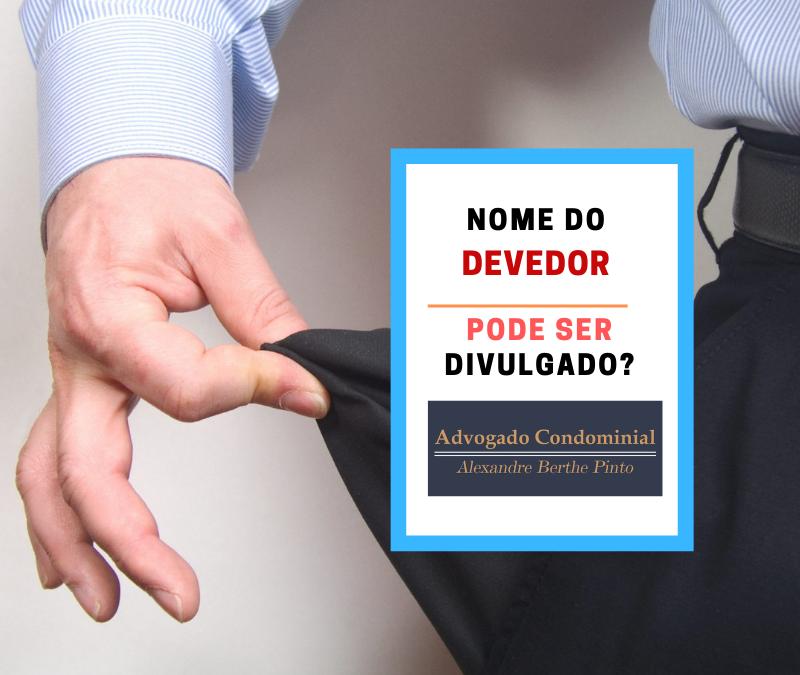 divulgação nome devedor taxa condominial